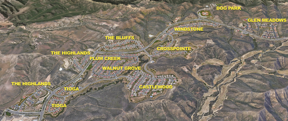 Big Sky Simi Valley Tract Overlay Map