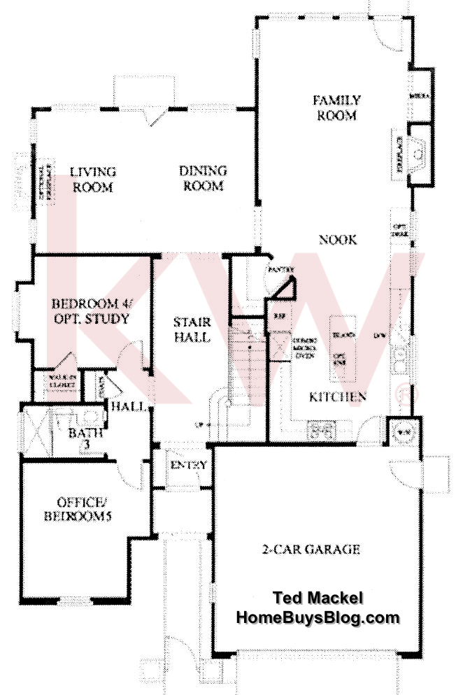 Big Sky Simi Valley Plum Creek tract plan 2 1st floor