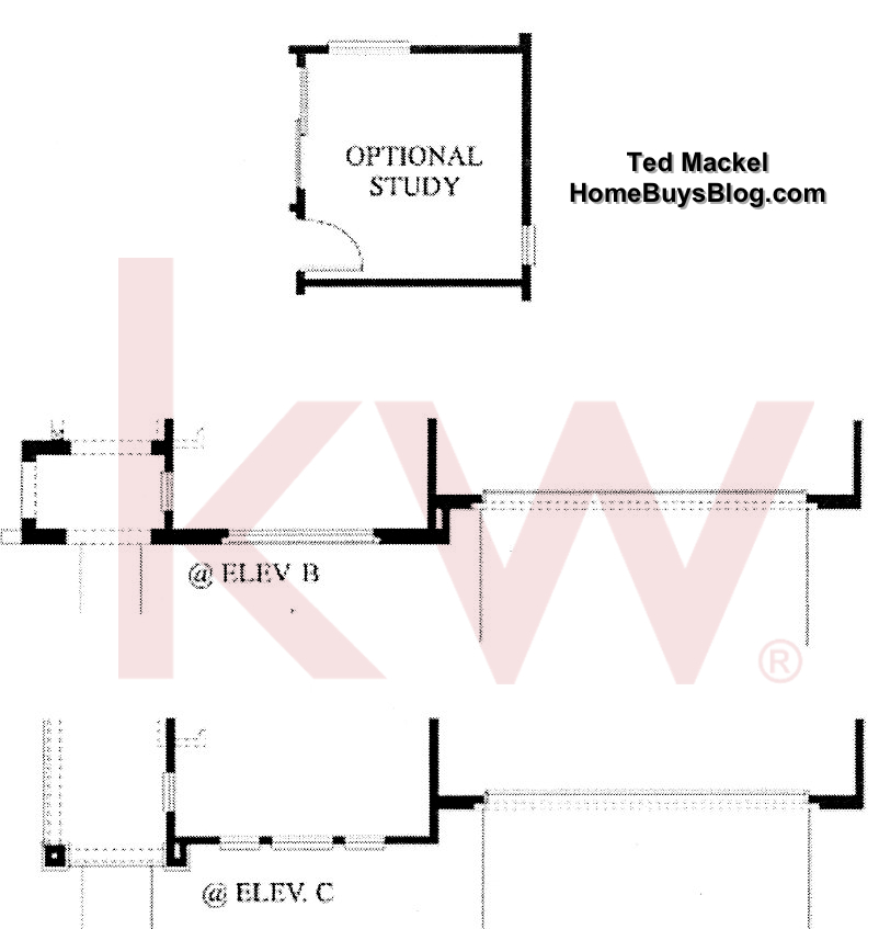 Big Sky Simi Valley Plum Creek tract plan 3 1st floor options