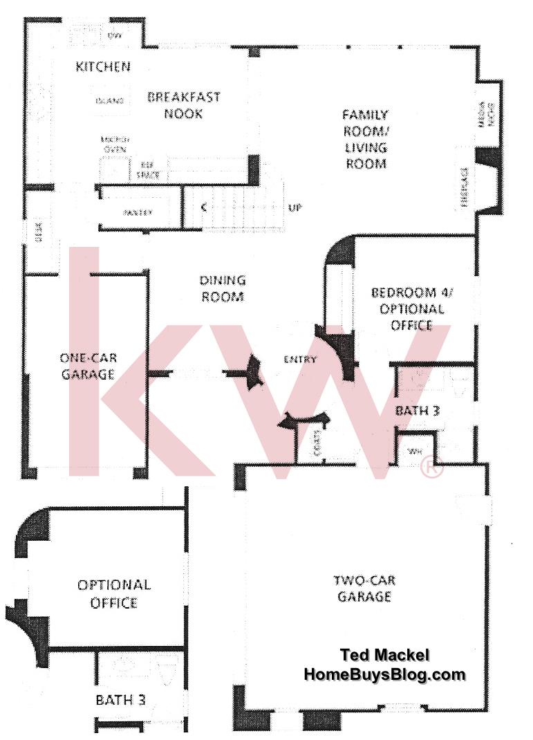 Big Sky Simi Valley Tioga Plan 1 First Floor