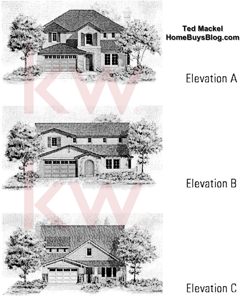 Big Sky SImi Valley Walnut Grove tract Plan 1 elevations