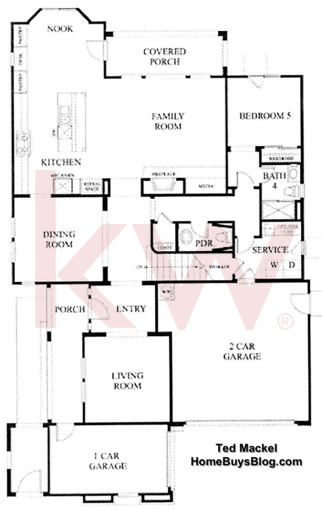 Big Sky SImi Valley Walnut Grove tract Plan 3 First Floor