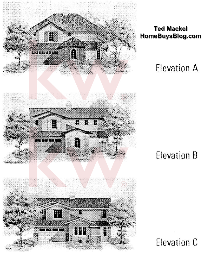 Big Sky SImi Valley Walnut Grove tract Plan 3 elevations