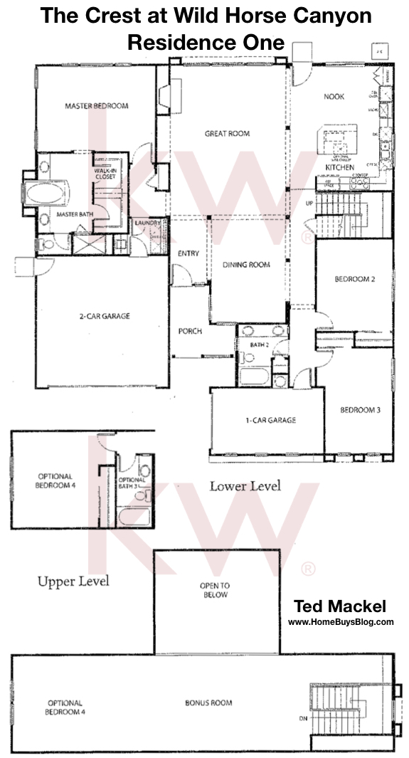 The Crest at Wild Horse Canyon Residence 1 Floorplans