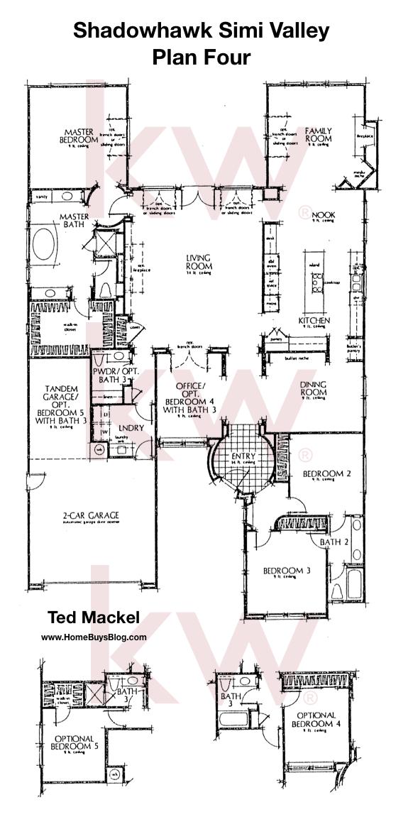 Shadowhawk Plan 4 Floor Plan Simi Valley