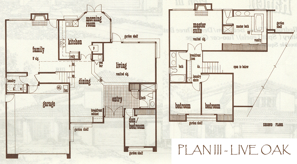 Simi Valley Indian Hills Ranch Tract Floor Plans